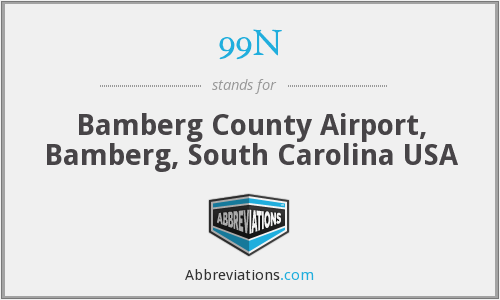 99N - Bamberg County Airport, Bamberg, South Carolina USA