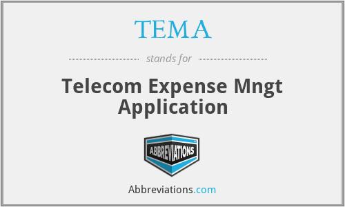 TEMA - Telecom Expense Mngt Application