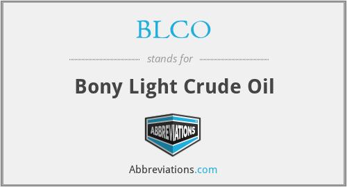 BLCO - Bony Light Crude Oil
