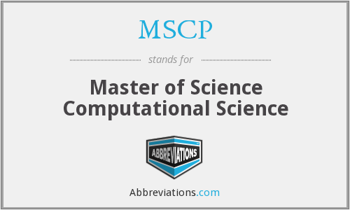 MSCP - Master of Science Computational Science
