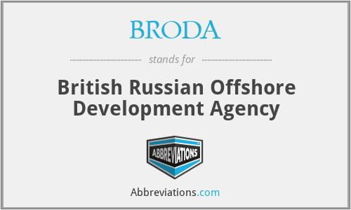 BRODA - British Russian Offshore Development Agency