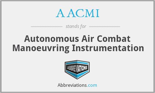 AACMI - Autonomous Air Combat Manoeuvring Instrumentation