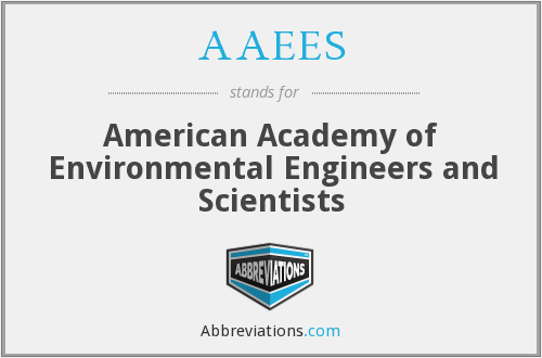 What is the abbreviation for american academy of environmental engineers and scientists?