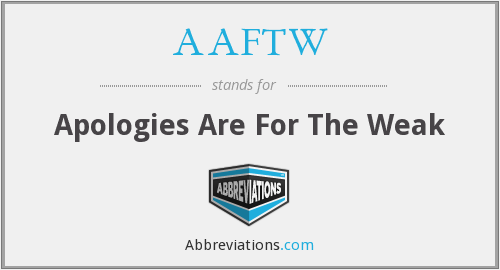 What does AAFTW stand for?