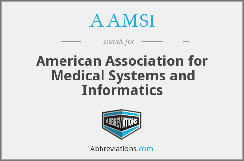 What does AAMSI stand for?