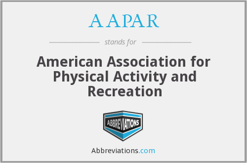 AAPAR - American Association for Physical Activity and Recreation