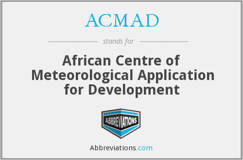 ACMAD - African Centre of Meteorological Application for Development