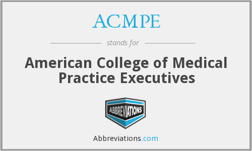 What does ACMPE stand for?