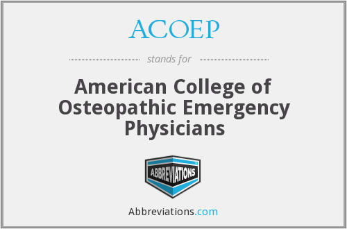 What does ACOEP stand for?
