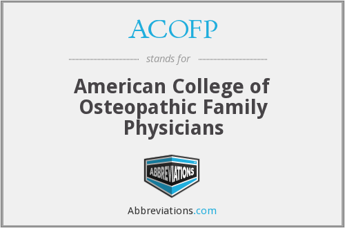 ACOFP - American College of Osteopathic Family Physicians