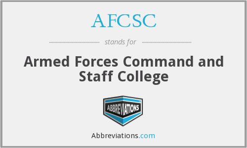What does AFCSC stand for?