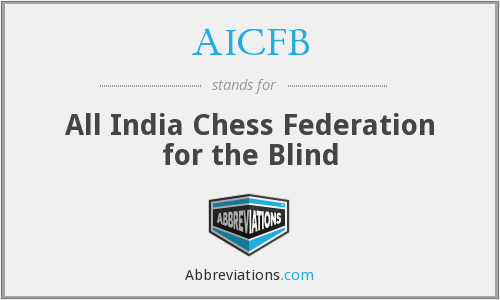 AICFB - All India Chess Federation for the Blind