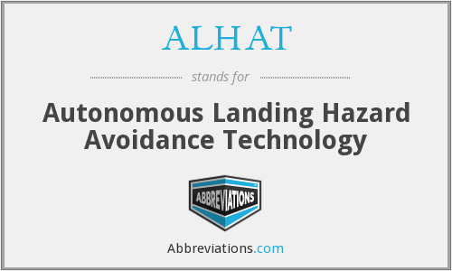 What does ALHAT stand for?