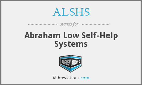 ALSHS - Abraham Low Self-Help Systems