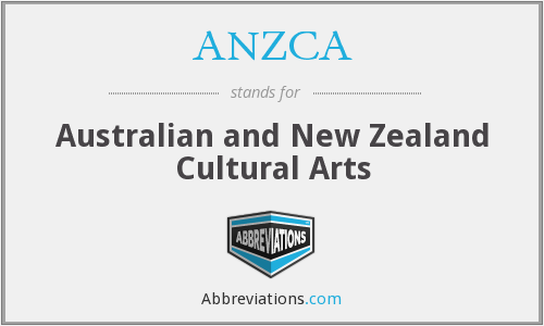 ANZCA - Australian and New Zealand Cultural Arts