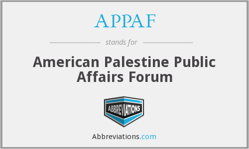 What does APPAF stand for?