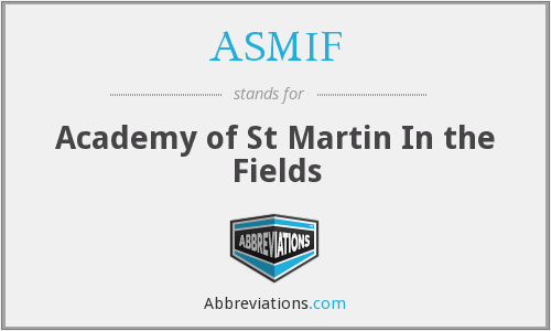 What does ASMIF stand for?