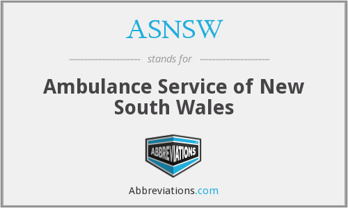 What does ASNSW stand for?