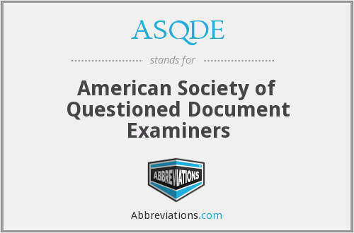 What does ASQDE stand for?