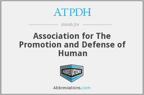 What does ATPDH stand for?