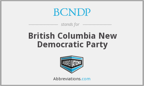 What does BCNDP stand for?
