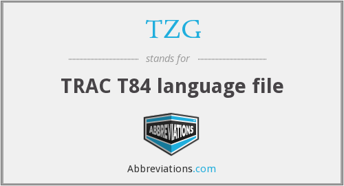 TZG - TRAC T84 language file