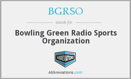 What does BGRSO stand for?