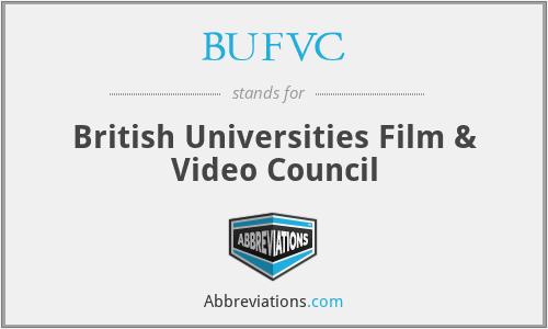 BUFVC - British Universities Film & Video Council