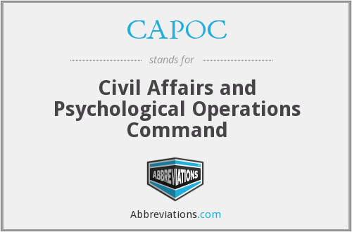CAPOC - Civil Affairs and Psychological Operations Command