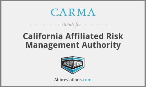 CARMA - California Affiliated Risk Management Authority