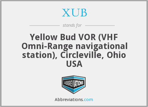 XUB - Yellow Bud VOR (VHF Omni-Range navigational station), Circleville, Ohio USA