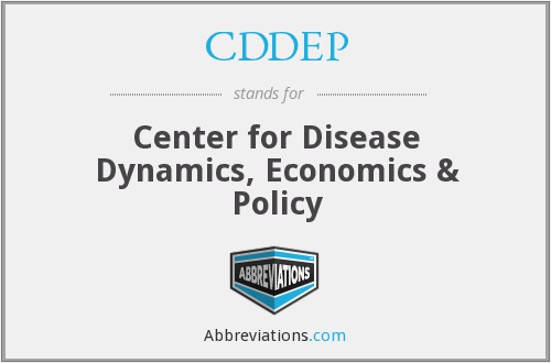 CDDEP - Center for Disease Dynamics, Economics & Policy