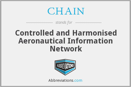 CHAIN - Controlled and Harmonised Aeronautical Information Network