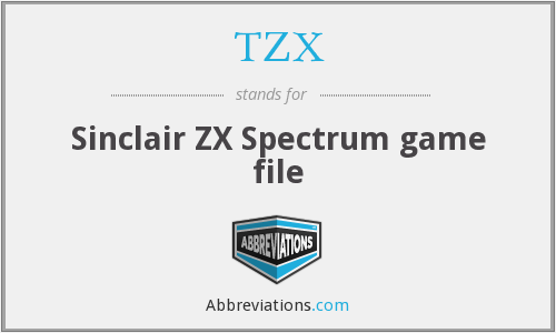 TZX - Sinclair ZX Spectrum game file