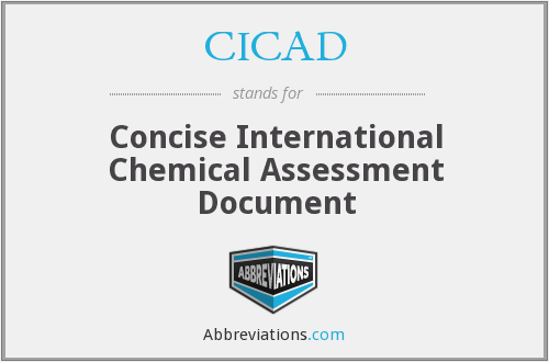 CICAD - Concise International Chemical Assessment Document