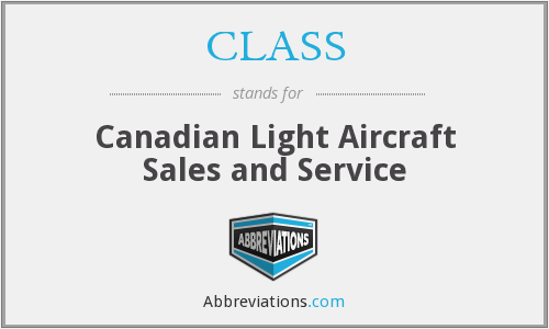 CLASS - Canadian Light Aircraft Sales and Service