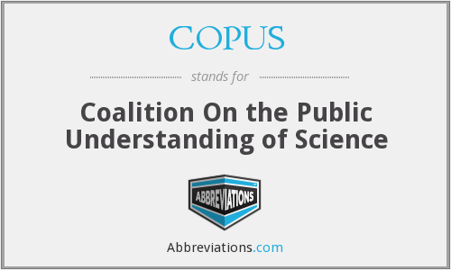 What does COPUS stand for?