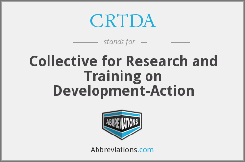 What does CRTDA stand for?