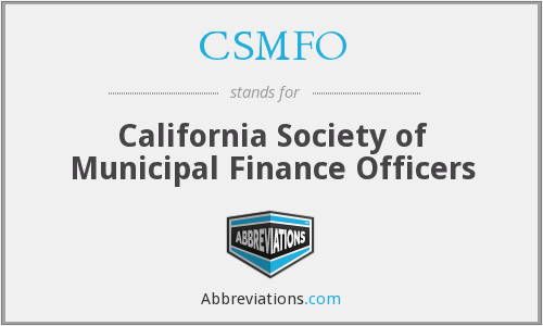 CSMFO - California Society of Municipal Finance Officers