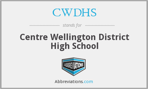 What does CWDHS stand for?