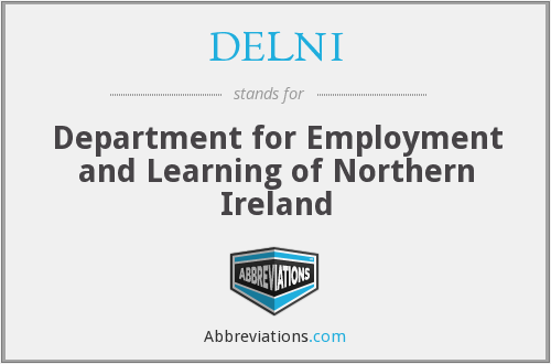 DELNI - Department for Employment and Learning of Northern Ireland