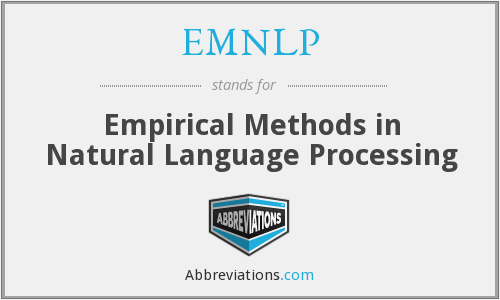 What does EMNLP stand for?