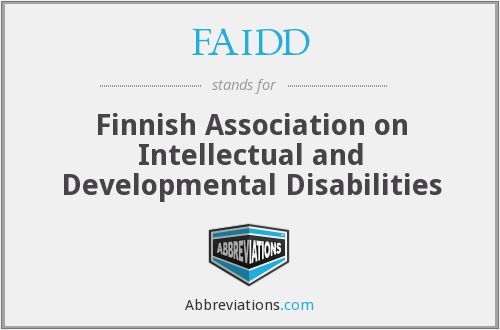 What does FAIDD stand for?