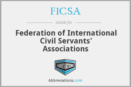 What does FICSA stand for?