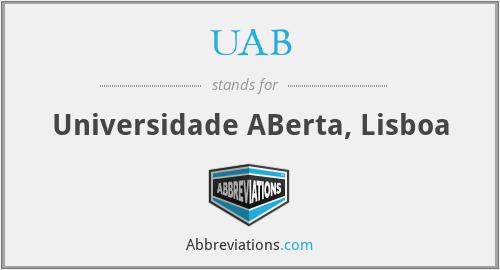 UAB - Universidade ABerta, Lisboa