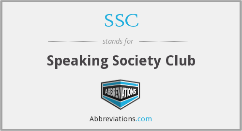 SSC - Speaking Society Club