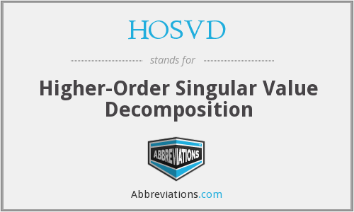 What does HOSVD stand for?