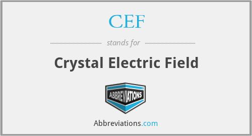 CEF - Crystal Electric Field
