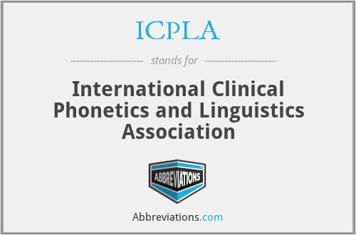 ICPLA - International Clinical Phonetics and Linguistics Association
