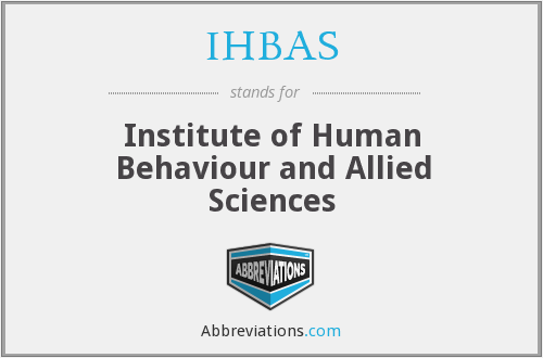What does IHBAS stand for?